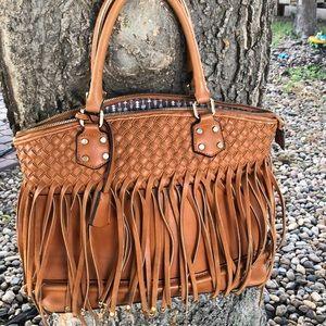 Vegan Leather Boho Fringe Bag